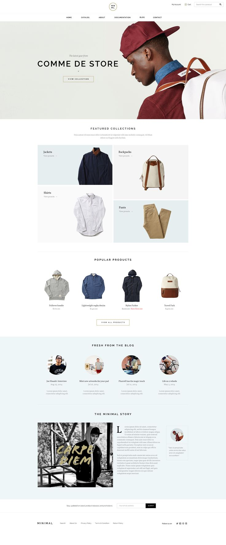 eCommerce web site concept by Nguyen Le. https://dribbble.com/shots/1812044-Shop/attachments/299714