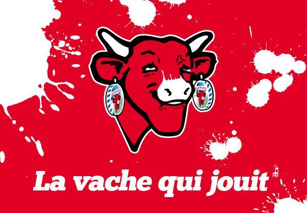 La vache qui rit jouit d tournement de logo affiche pinterest - Photo la vache qui rit ...