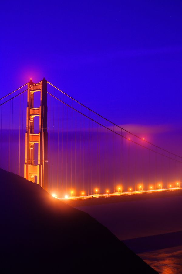 Colorful Foggy Morning - Golden Gate Bridge - San Francisco - USA
