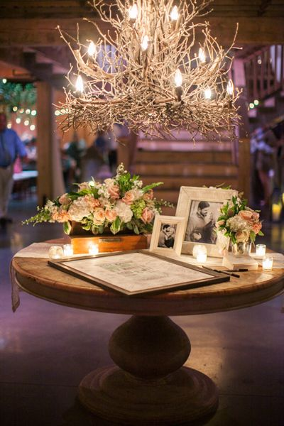 reception table ideas. Fabulous Statement Chandelier Above The Guest Book Table! | Declare Photography #wedding Reception Table Ideas