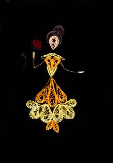 Arts and Witch Crafts: Disney Quilling! Belle