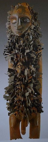 """Nkisi nkondi Kongo, Zaire, late 19th century wood, metal, pigment, h. 108 cm Museo Preistorico Etnografico """"L. Pigorini"""", Rome"""