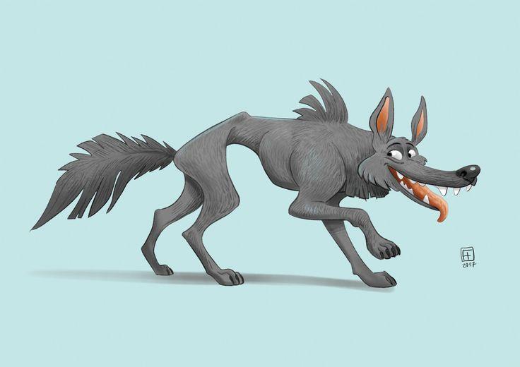 Wolf, Hunor Fogarasi on ArtStation at https://www.artstation.com/artwork/leRNO