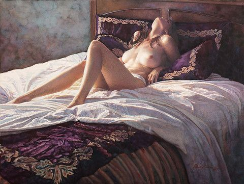 In the Soft Comfort of Her Bed - New Release from artist Steve Hanks