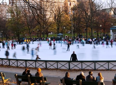 Boston Common Frog Pond #boston #winter #wheretraveler