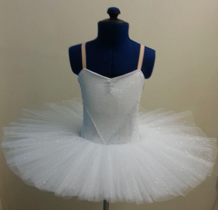 Silver sparkle stretch velour classical tutu