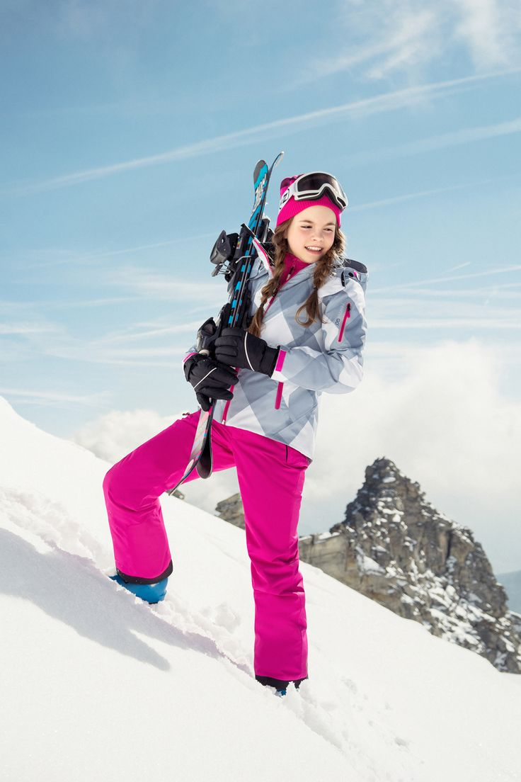 """The joy of winter activities is guaranteed when wearing this """"Frost"""" jacket and """"Terrie"""" pants. They are both water- and windproof, including snowlocks."""