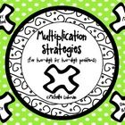 Freebie!  Having problems finding a multiplication strategy that works for your class? Then, this is the packet for you! Included in this packet are easy-to-follow instructions and examples of how to use four main multiplication strategies (Array Method, FOIL, Lattice, and Double & Half). You may also choose to copy instructions for students to have when practicing at home and to guide the parents. Additionally, there are 4 practice pages for the students included.