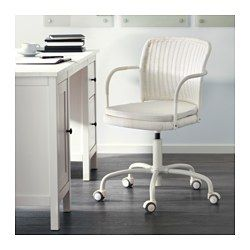 IKEA - GREGOR, Swivel chair, Vittaryd white,  , , You sit comfortably since the chair is adjustable in height.The casters are rubber coated to run smoothly on any type of floor.