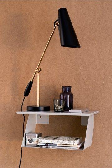 Edgy, bedside shelf and hall shelf by Maze