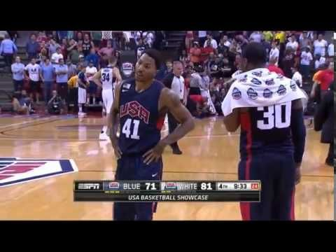 Paul George Suffers SEVERE Lower Right Leg Injury Team USA - YouTube