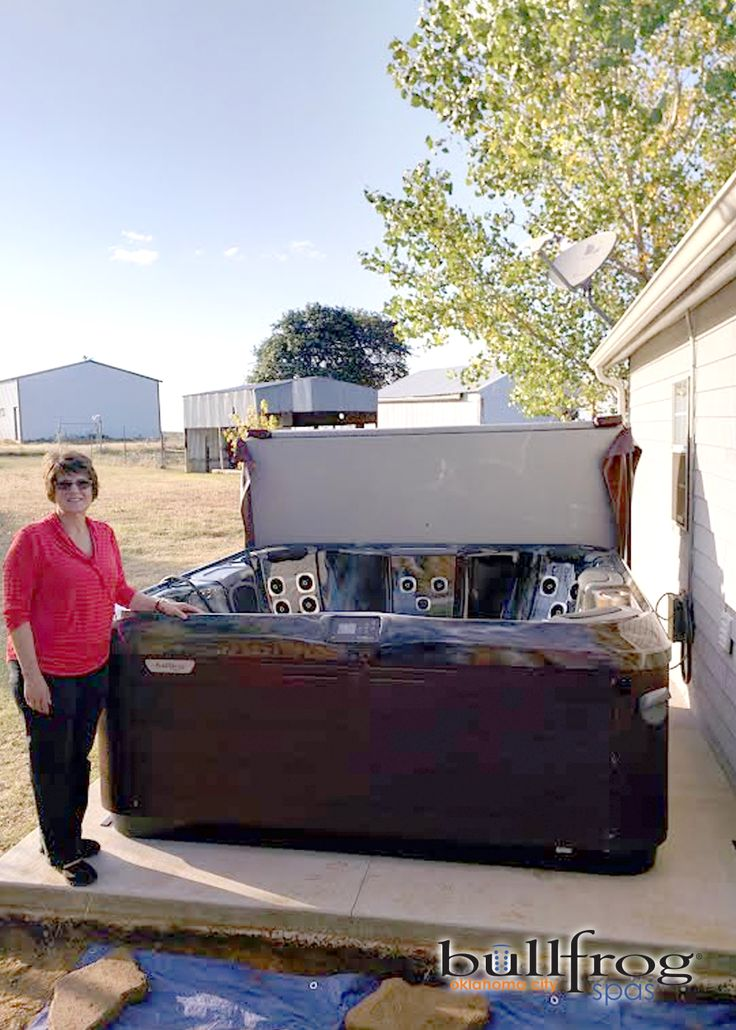 i want to give a hearty thanks to steve and helen broadbooks for choosing bullfrog spas for their new hot tub purchase steve u0026 helen are now the proud