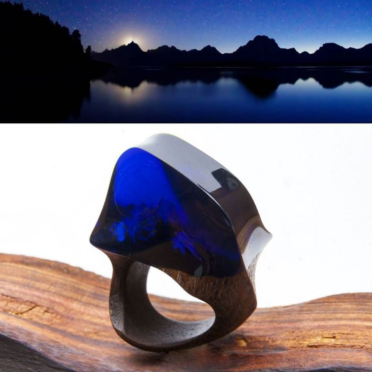 A beautiful night in the mountains... #greenwood #greenwoodring #waterfall #WoodenBands #wood #magicring #mountains #secretring