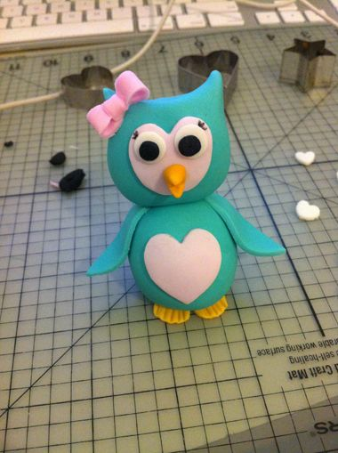 Cute Fondant Owl Tutorial