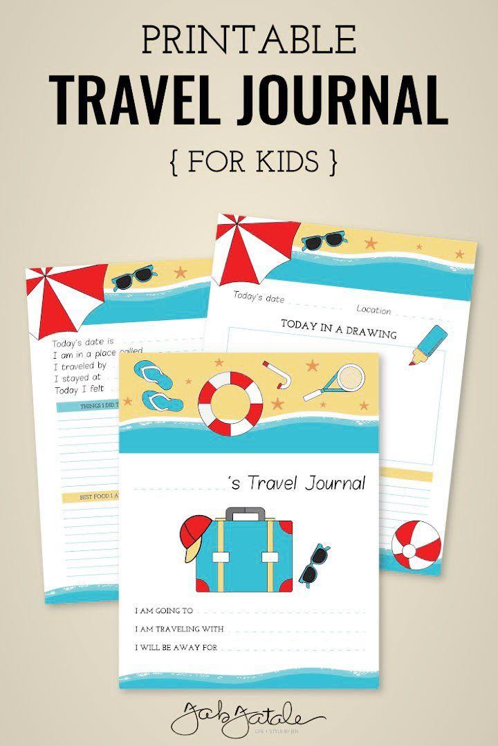 Free Kids Travel Journal Printable