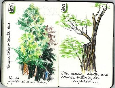 PARQUE - COLEGIO SANTA ANA: ESCRIBIR + DIBUJAR (22 y 23 de mayo de 2013)