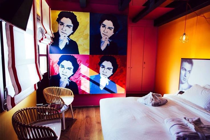Boutique Art Hotel Veritas, Veria-Greece, by architect Dimitris Koukoudis( Alexander Iolas room )