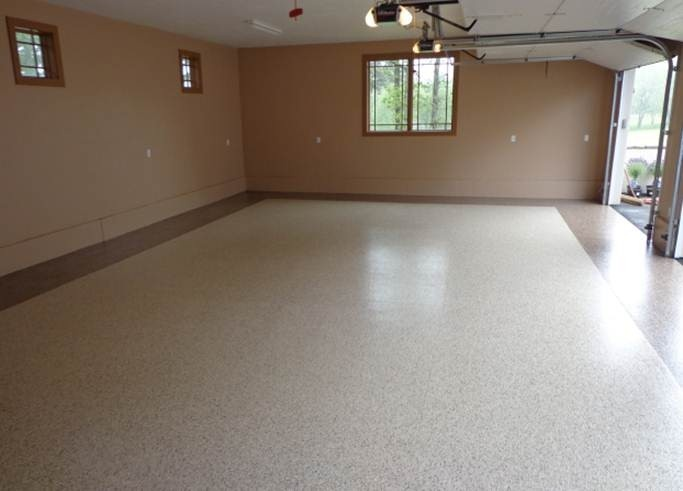 High Quality This Customer Used Our Scottsdale And Majove Finishes For Their Epoxy  Flooring. Great Look! Garage CabinetsEpoxyFlooring