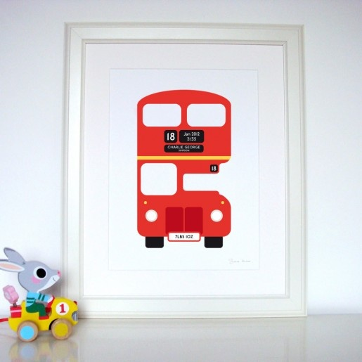Personalised London Red Bus