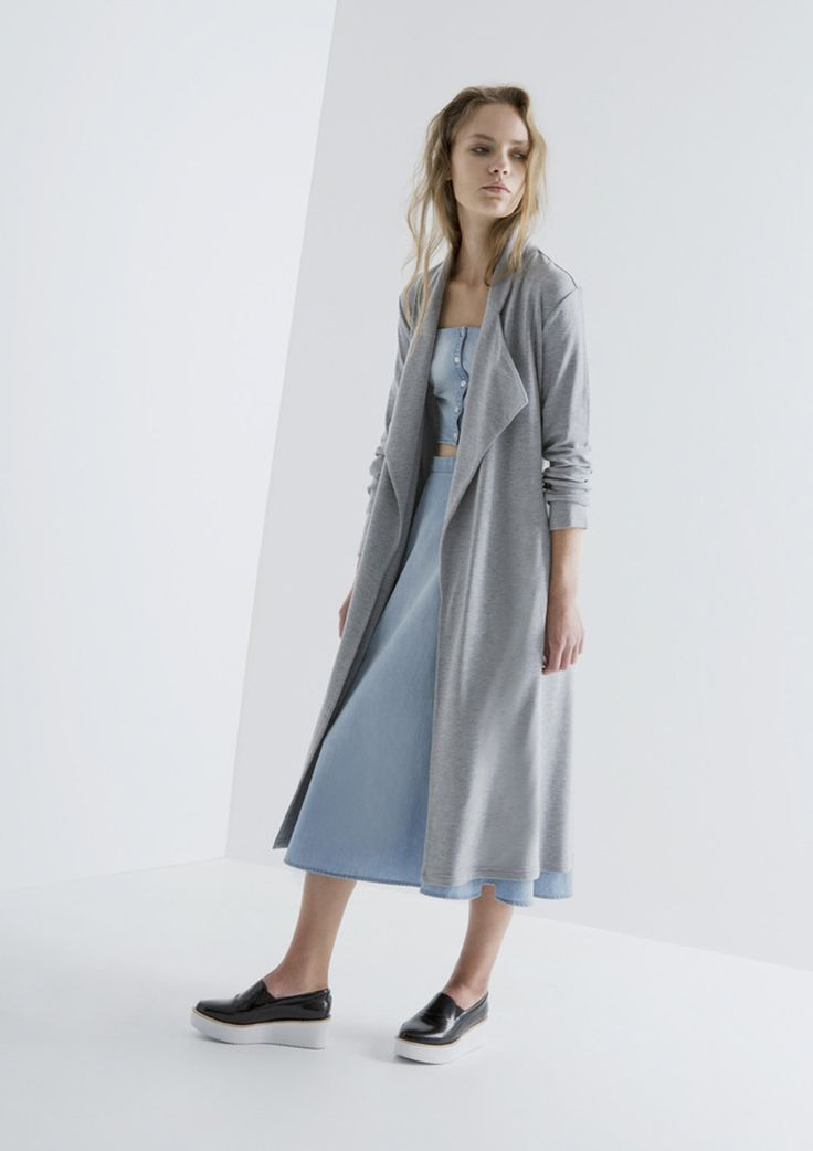 THE FIFTH - Sanctuary Coat - Grey Marle