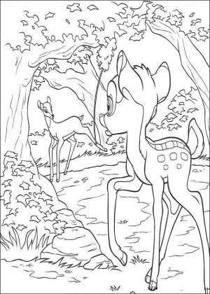 Bambi Coloring Page 23
