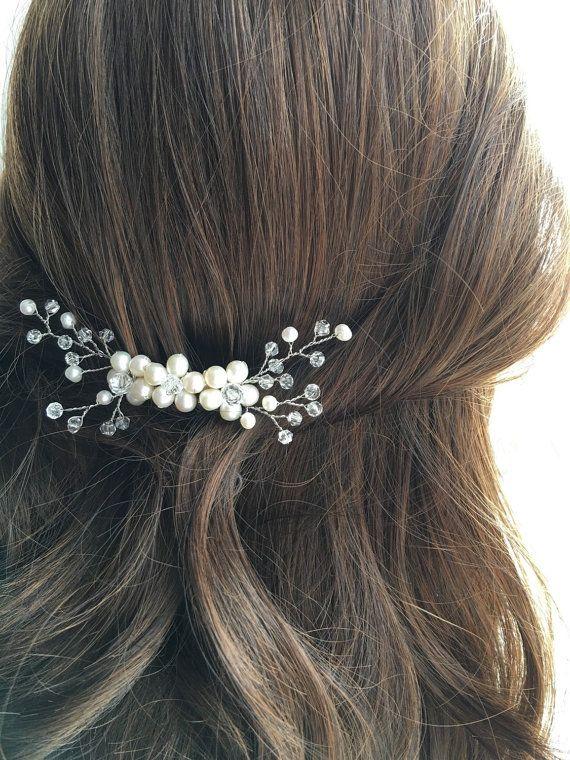 Bridal hair comb wedding hair comb bridal headpiece by VHbridal