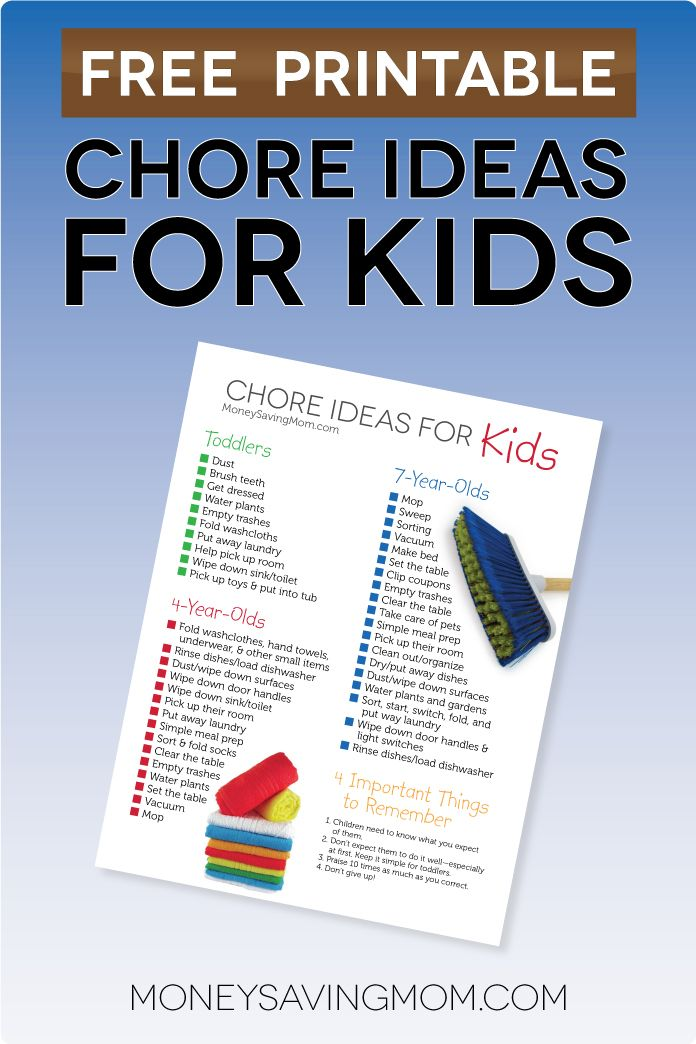 Free Printable: Chore Ideas for Kids