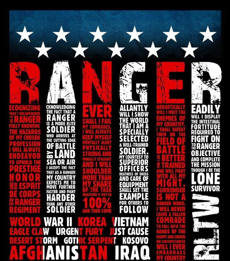 Pin Ranger Creed Army Rangers Clan On Pinterest