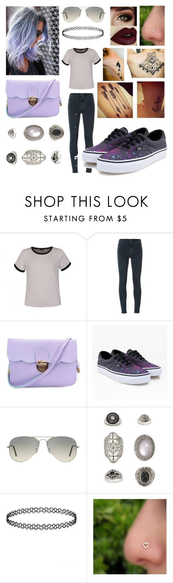 """Now that she's back in the atmosphere"" by annalaris on Polyvore featuring Ally Fashion, 7 For All Mankind, Vans, Ray-Ban, Topshop, Girl With the Temporary Tattoo, Disney, women's clothing, women's fashion and women"