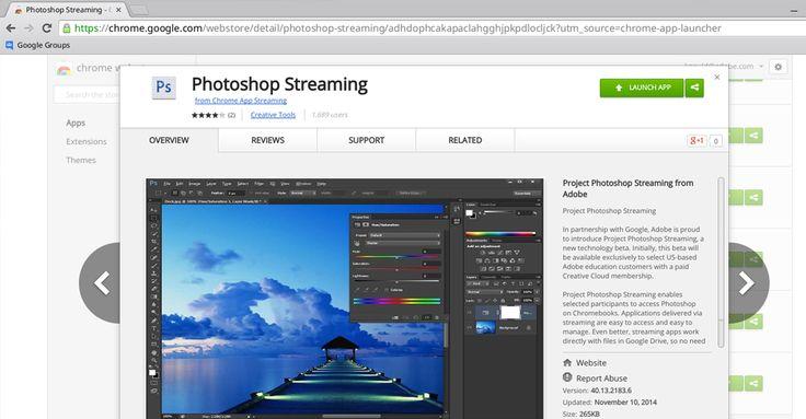Google y Adobe trabajan en un proyecto para llevar Photoshop a Google Chrome con todas sus funcionalidades.