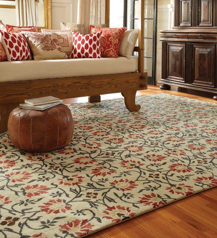 Charming Suzani Hand Tufted Wool Area Rug