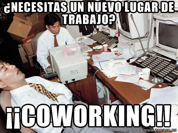 ¿Necesitas un nuevo lugar para trabajar? Prueba el #coworking www.zonacoworking.es