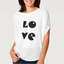 Love Text Funny Black and White Typography T-Shirt