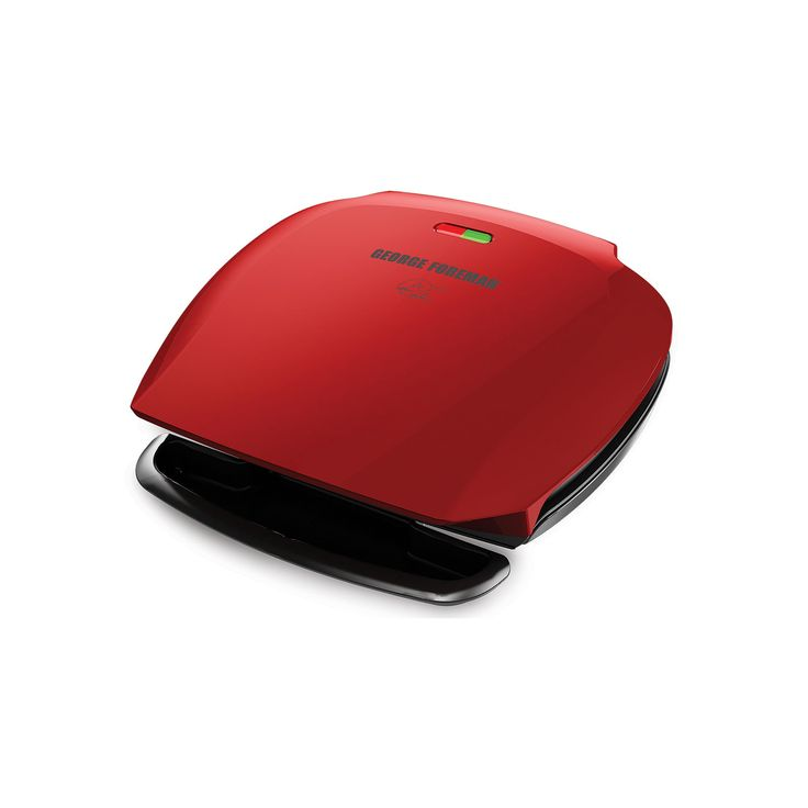 George Foreman 5-Serving Classic Plate Grill, Red
