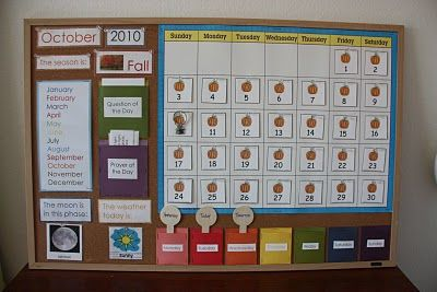Awesome calendar to help kids learn...everything to do with dates, time and outside!