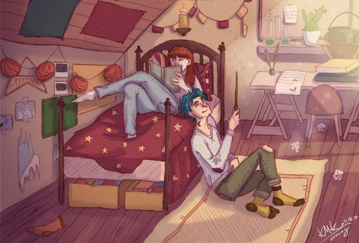 Lily Luna and Teddy Lupin