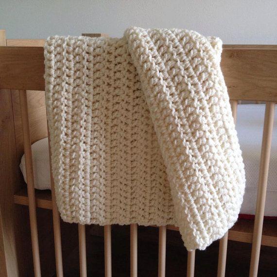 Crochet baby blanket 60 x 80 cm great by