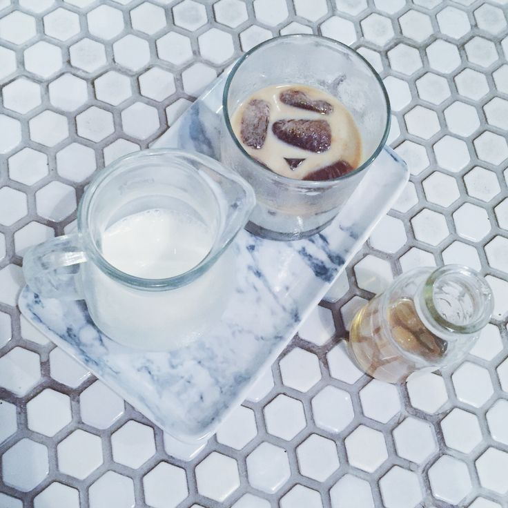 Latte coffee cubes