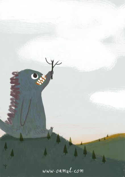 Little Gluttonous Monster 2 on Behance. Click on Gif button to animate.