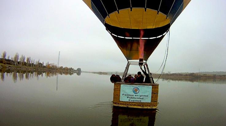 Volar en globo en Mérida, Badajoz…