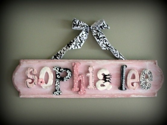 Baby Name Sign Like The Name Sophia Nombres En Madera