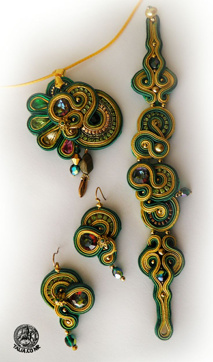 Soutache set in Green&Yellow