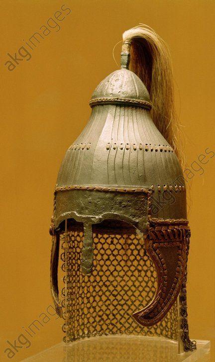 Lamellar helmet, Niederstotzingen, Baden-Württemberg, Germany, 6th century