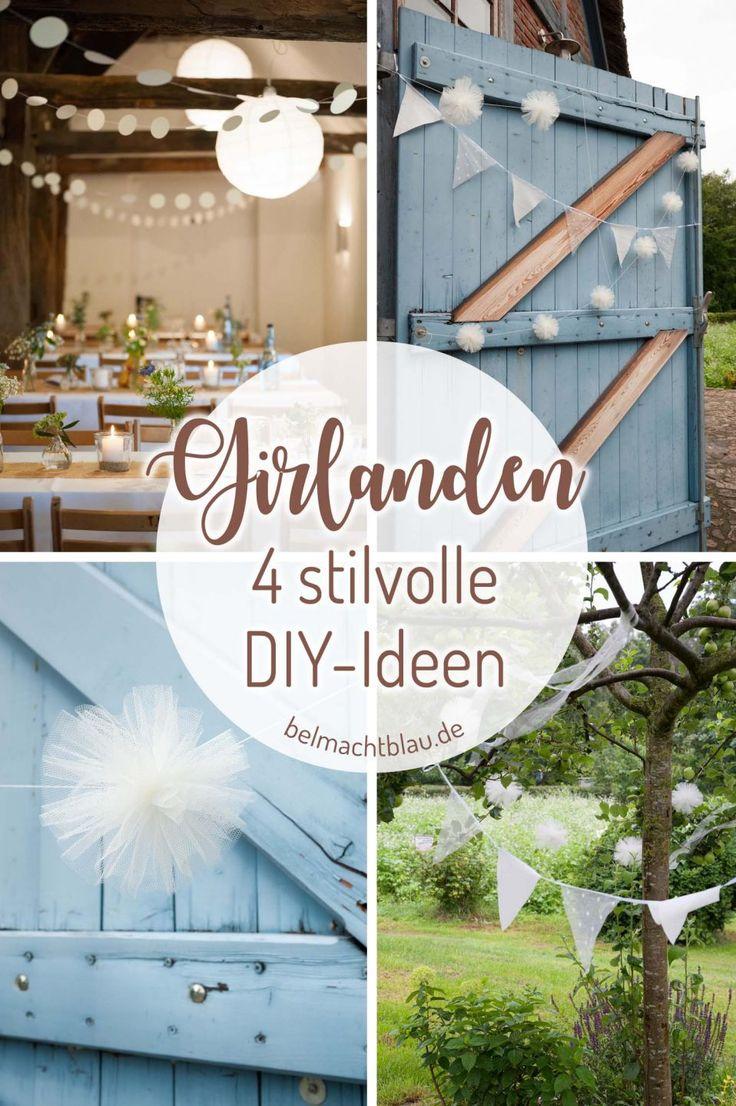 Unsere Hochzeitsdekorationen – 4 DIY-Ideen für stilvolle Girlanden