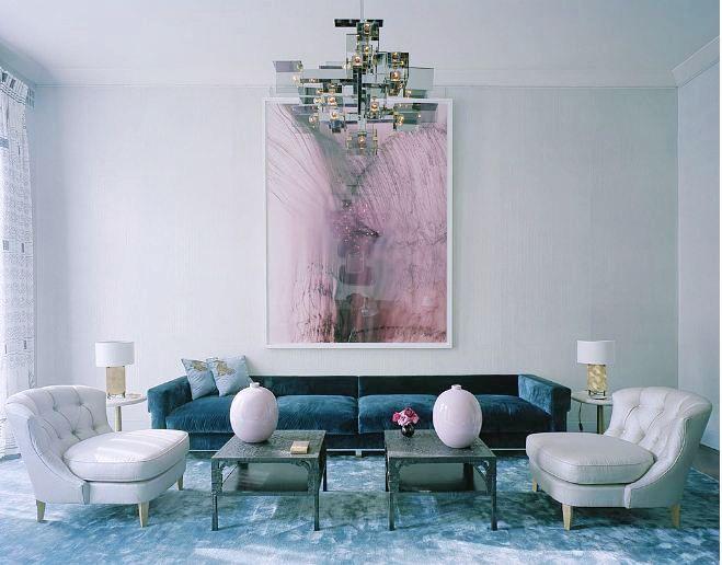 un salon pastel aux couleurs de lanne 2016 selon pantone - Salons Moderne En Velours