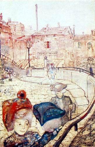 Gulácsy Lajos: 1910 után - Vasárnap délután Comoban