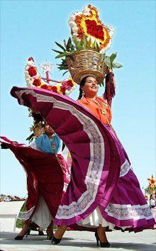 La Guelaguetza festival.  Oaxaca, Mx.