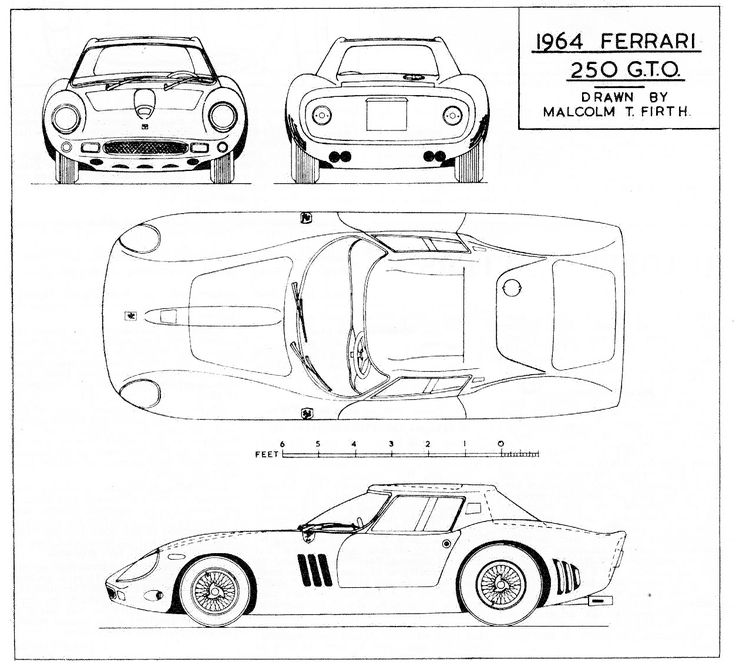 37 best cars blueprints images on pinterest cutaway vintage cars ferrari 250 gto series ii 1964 smcars car blueprints forum malvernweather Choice Image
