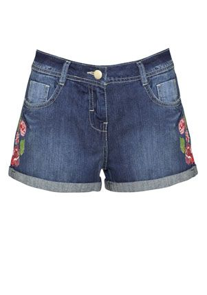 F&F Limited Edition Embroidered Denim Shorts - £14