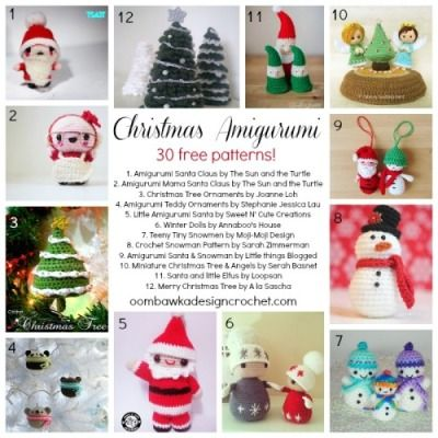 30 Precious Christmas Amigurumi #crochet patterns all FREE - STOP searching and START making. CrochetStreet.com
